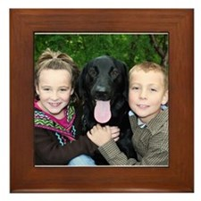 Gage - Black Labrador - Photo Framed Tile