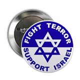 Fight Terror Support Israel 2.25&quot; Button (10 pack)