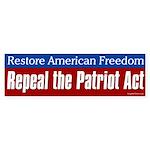 Repeal the Patriot Act bumper sticker