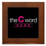 The C Word Framed Tile