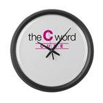 The C Word Large Wall Clock