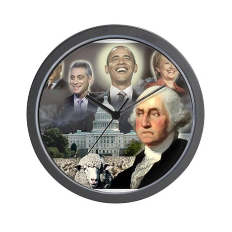 George Washington - Obama She Wall Clock