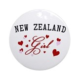 New Zealand Girl Ornament (Round)
