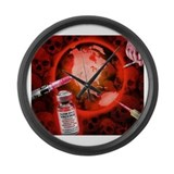 Slow Kill Vaccines Large Wall Clock