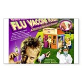 Flu Vaccine Playset Rectangle Sticker