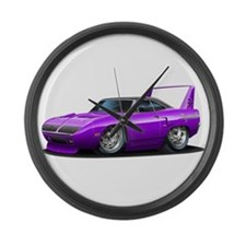 Superbird Purple Car Large Wall Clock
