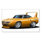 Superbird Orange Car Rectangle Decal