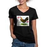 Input-Output Women's V-Neck Dark T-Shirt