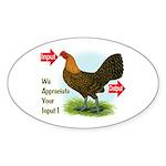 Input-Output Oval Sticker (50 pk)