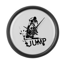 EQUESTRIAN JUMP Large Wall Clock