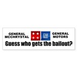 General McChrystal's Bailout Sticker (Bumper 50 pk