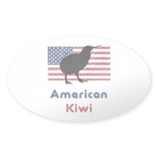 American Kiwi Oval Decal