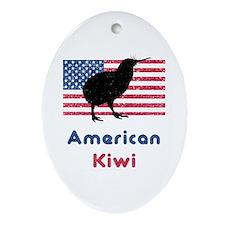 American Kiwi Oval Ornament