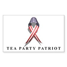TEA Patriot US Ribbon Rectangle Decal
