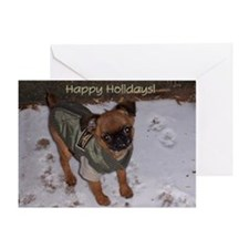 Smooth Brussels Griffon Happy Holiday Card