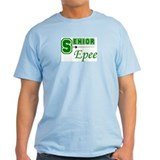 Senior Epee - Green - Ash Grey T-Shirt