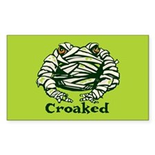 Frog Mummy Rectangle Decal