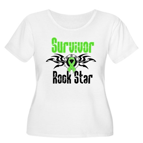 LymphomaSurvivorRockStar Women's Plus Size Scoop N