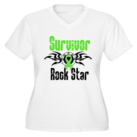 LymphomaSurvivorRockStar Women's Plus Size V-Neck