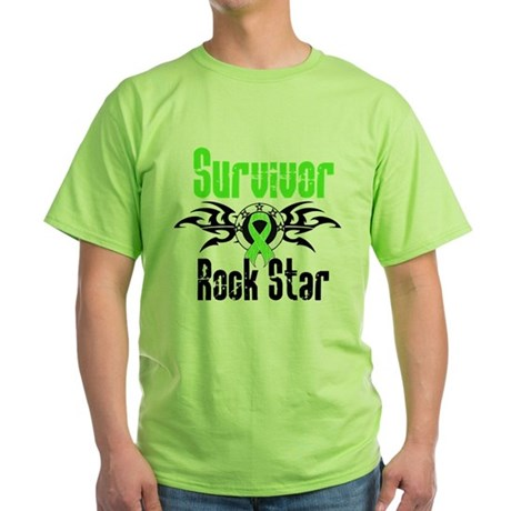 LymphomaSurvivorRockStar Green T-Shirt