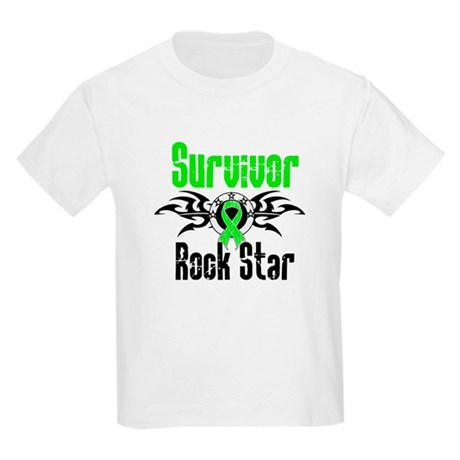 LymphomaSurvivorRockStar Kids Light T-Shirt