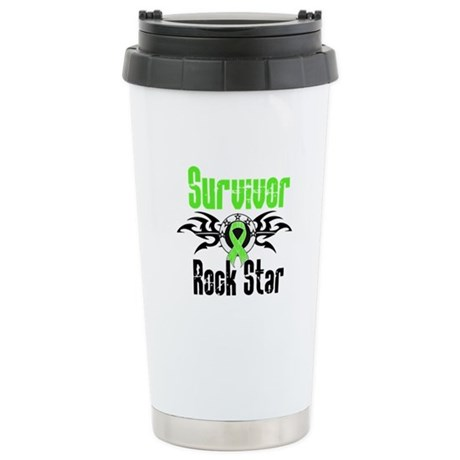 LymphomaSurvivorRockStar Ceramic Travel Mug