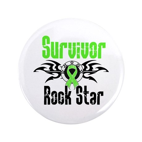 "LymphomaSurvivorRockStar 3.5"" Button (100 pack)"