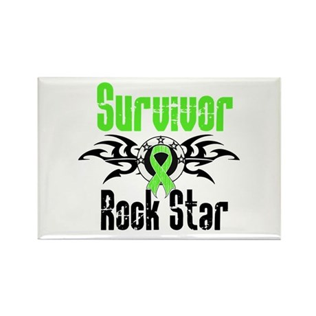 LymphomaSurvivorRockStar Rectangle Magnet