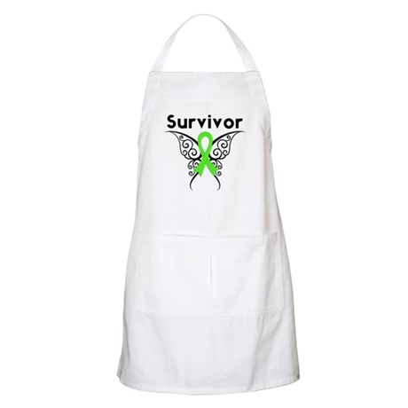 Lymphoma Survivor Tribal BBQ Apron