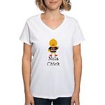 Fleur de Lis Nola Chick Women's V-Neck T-Shirt