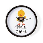 Fleur de Lis Nola Chick Wall Clock