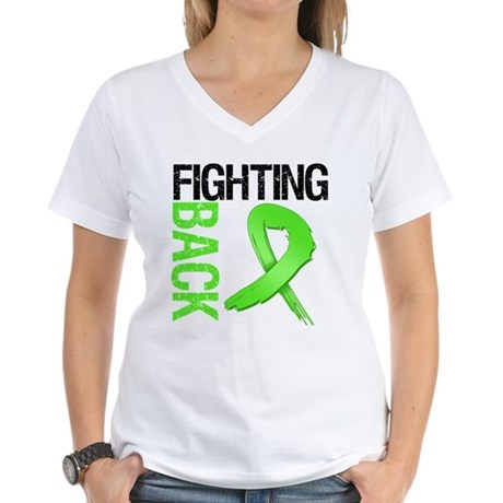 Fighting Back - Lymphoma Women's V-Neck T-Shirt