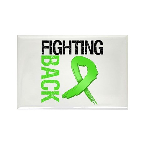 Fighting Back - Lymphoma Rectangle Magnet (10 pack