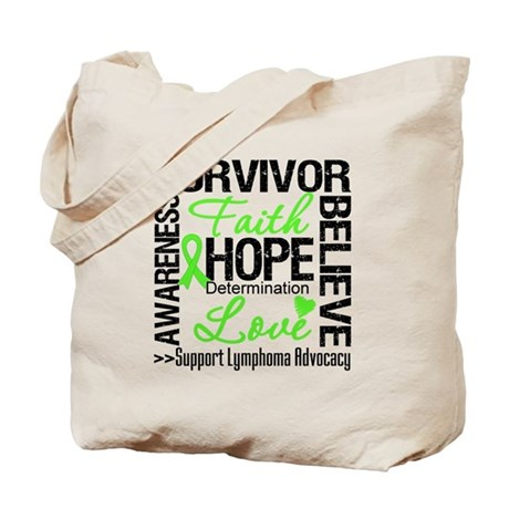 Survivor Collage Lymphoma Tote Bag