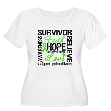 Survivor Collage Lymphoma Women's Plus Size Scoop