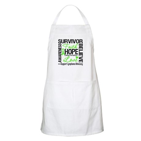 Survivor Collage Lymphoma Apron