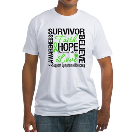 Survivor Collage Lymphoma Fitted T-Shirt