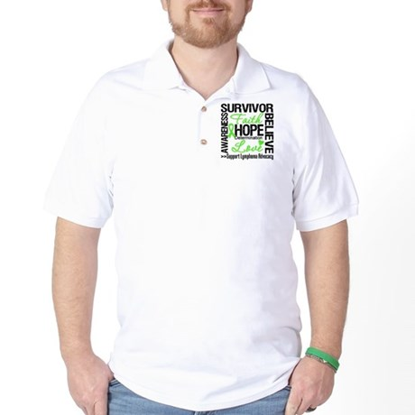 Survivor Collage Lymphoma Golf Shirt