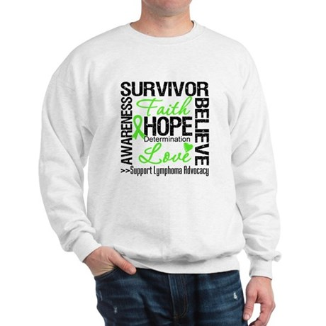 Survivor Collage Lymphoma Sweatshirt