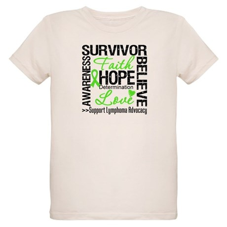 Survivor Collage Lymphoma Organic Kids T-Shirt
