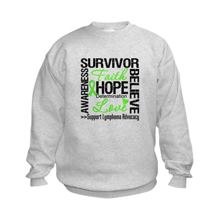 Survivor Collage Lymphoma Kids Sweatshirt
