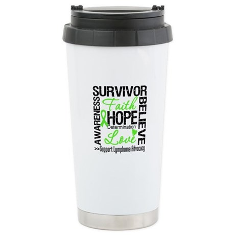 Survivor Collage Lymphoma Ceramic Travel Mug