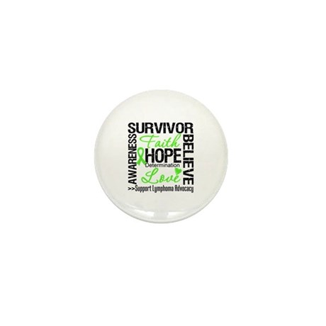 Survivor Collage Lymphoma Mini Button (100 pack)