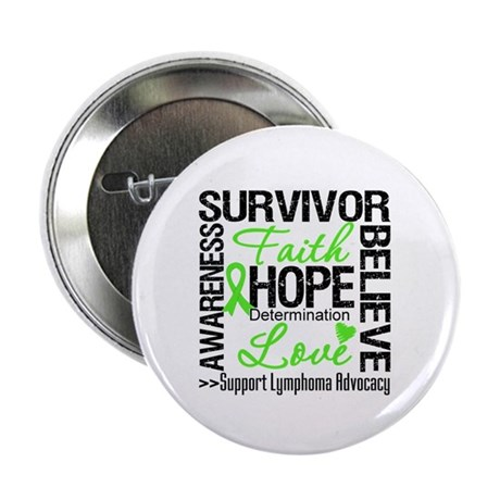Survivor Collage Lymphoma 2.25&quot; Button