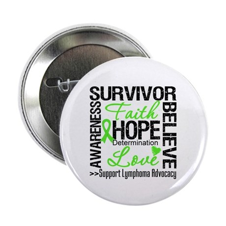 Survivor Collage Lymphoma 2.25&quot; Button (100 pack)