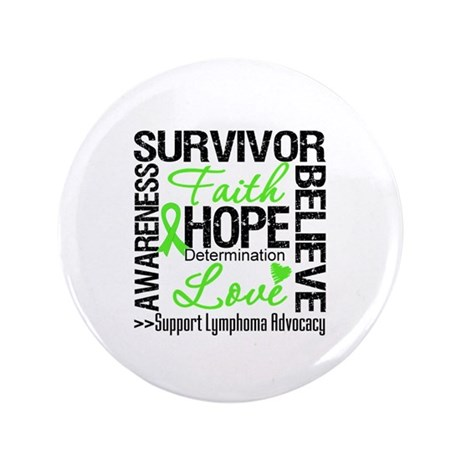 Survivor Collage Lymphoma 3.5&quot; Button (100 pack)