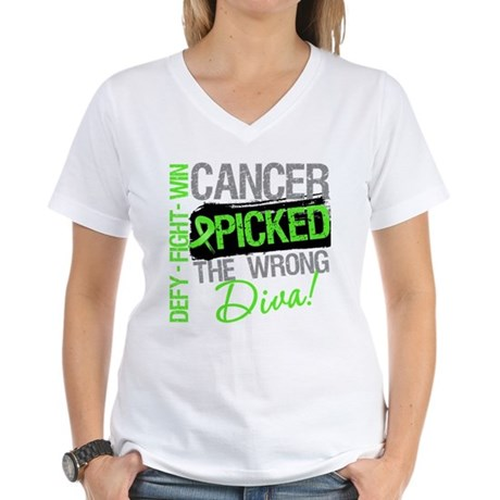 Lymphoma Diva Women's V-Neck T-Shirt