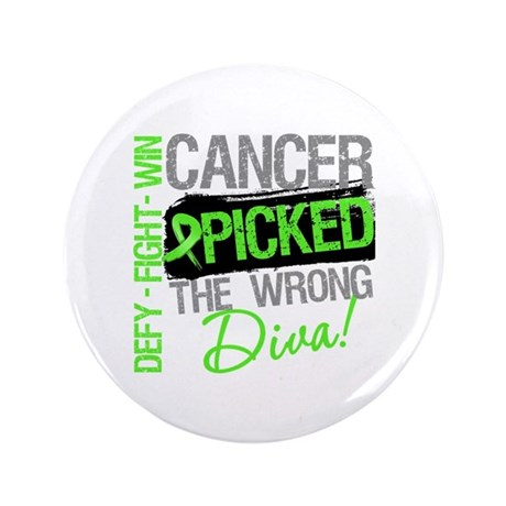 "Lymphoma Diva 3.5"" Button"
