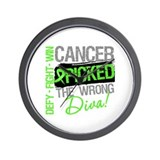 Lymphoma Diva Wall Clock