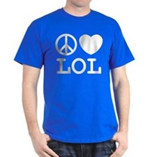 Peace, Love, & LOL Tee (Men's) Dark Colors